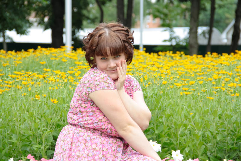 A charming and lovely girl royalty free stock image