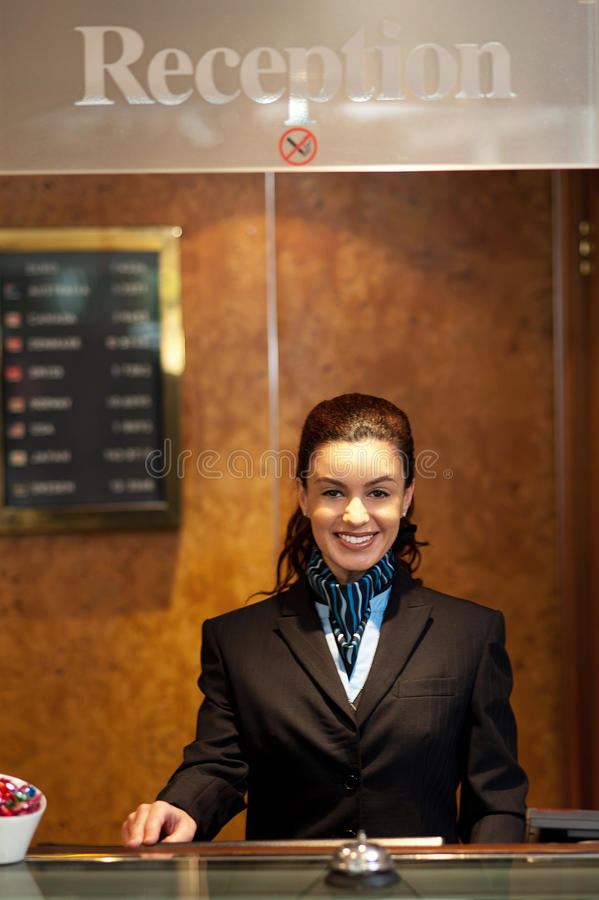 Download Charming Pretty Receptionist Posing Stock Photo - Image: 26891370