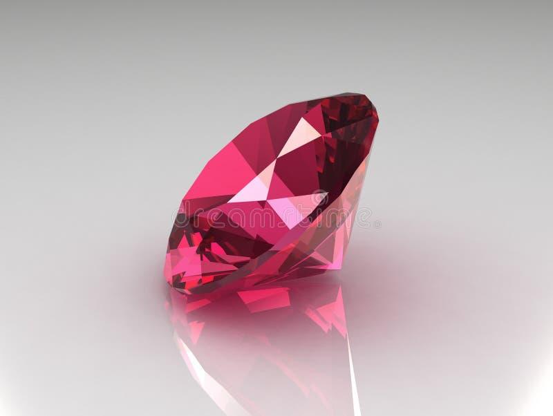 Charming Round Garnet Gemstone -3D royalty free illustration