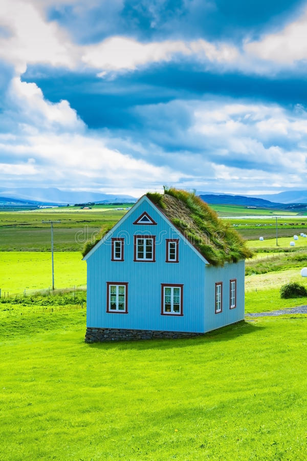 The charming rustic rural house stock photo
