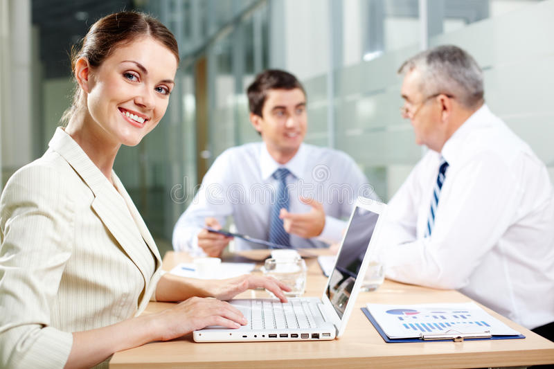 Download Charming secretary stock photo. Image of confident, cheerful - 25941244