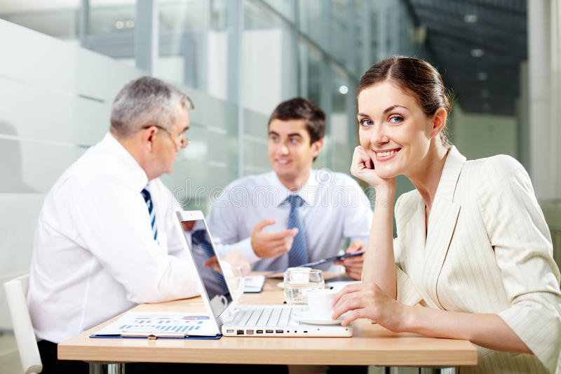 Download Charming secretary stock image. Image of executive, leader - 26817083