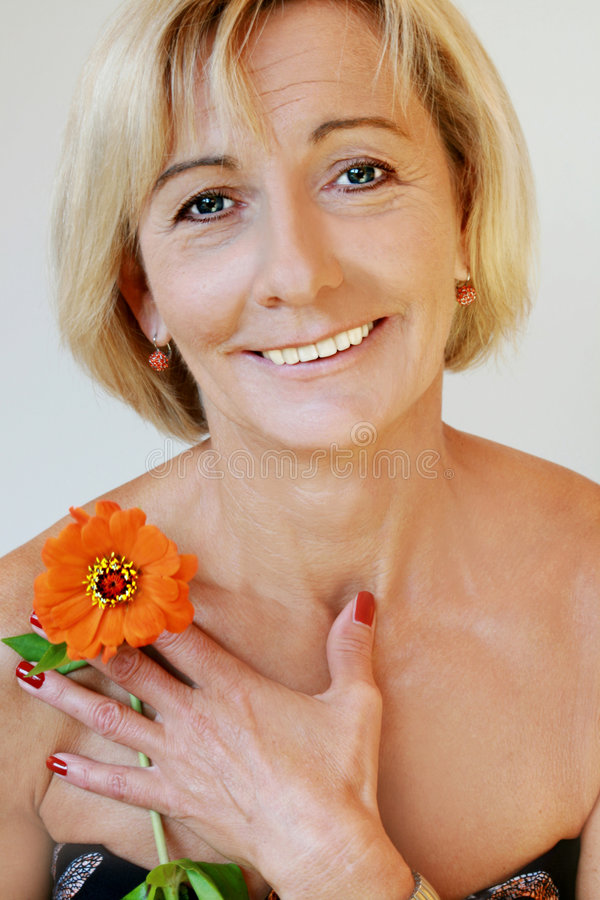 Download Charming senior beauty stock photo. Image of midage, blonde - 6883864