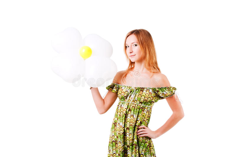 Charming Smile Girl With Flower Royalty Free Stock Image