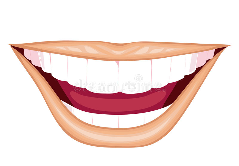 Download Charming smiles stock vector. Illustration of mouth, teeth - 4596596