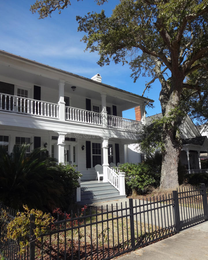 Charming Southern Home in Southport, North Carolina royalty free stock image
