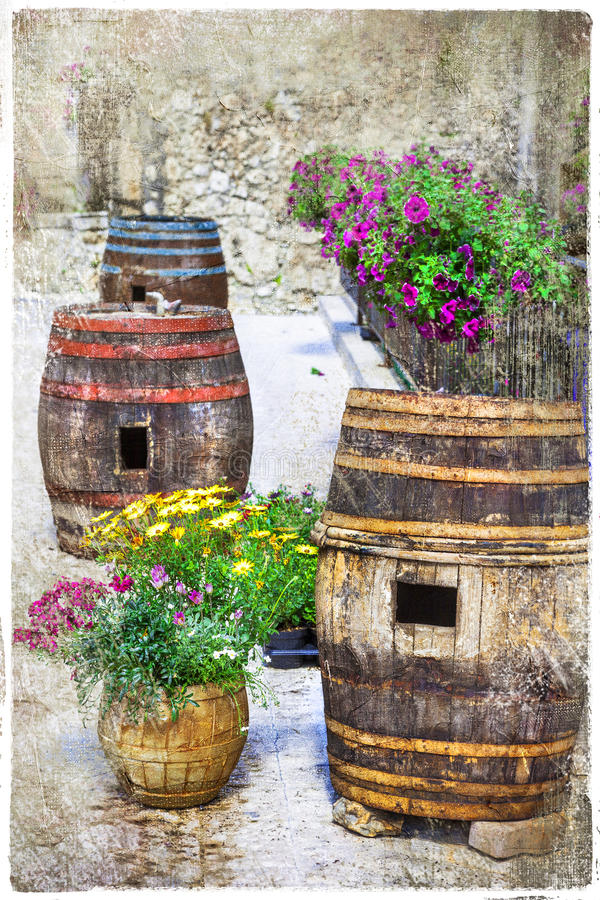 Charming streets of old italian villages. Pacentro royalty free stock images