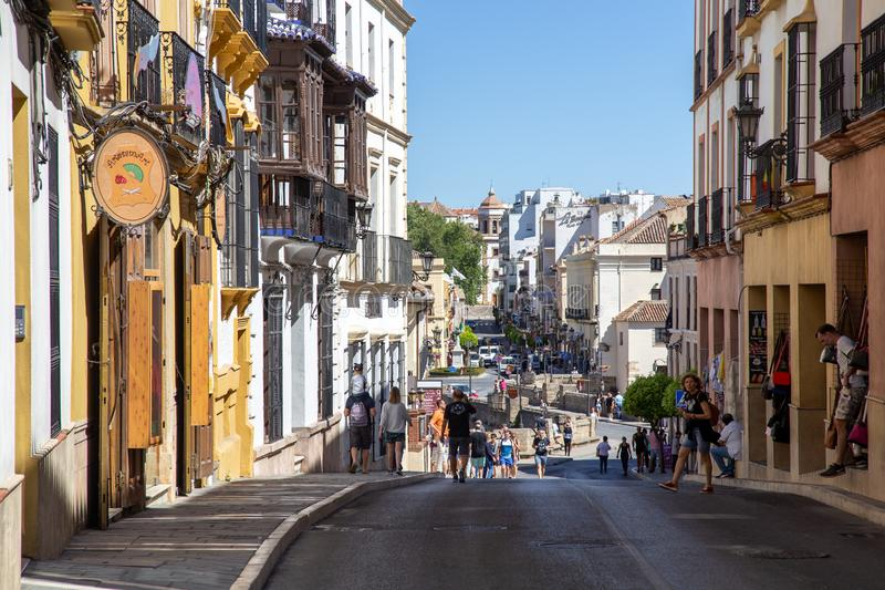 Charming Streets of Ronda, Spain royalty free stock image