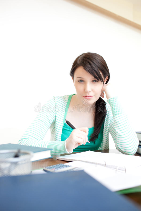 Download Charming Teen Girl Studying Stock Photo - Image: 13861196