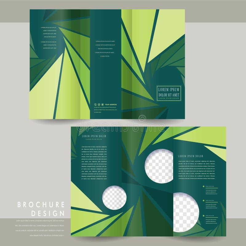 Charming Tri Fold Brochure Template Design Stock Vector