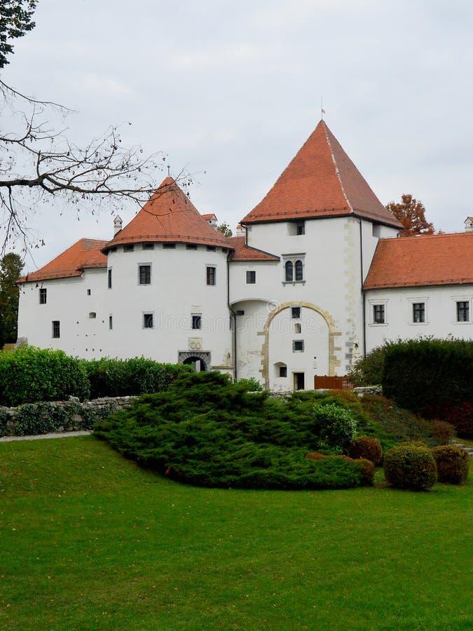 Varazdin Castle, Varazdin, Croatia. Charming Varazdin is an pretty 18th century town in northern croatia near the border with Slovenia with a magnificent white royalty free stock image