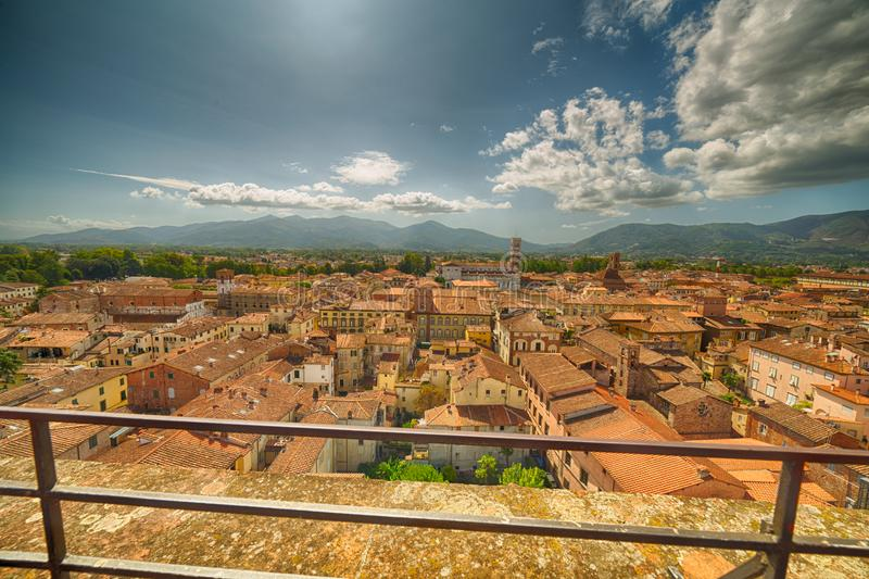 Charming view of Lucca stock photos