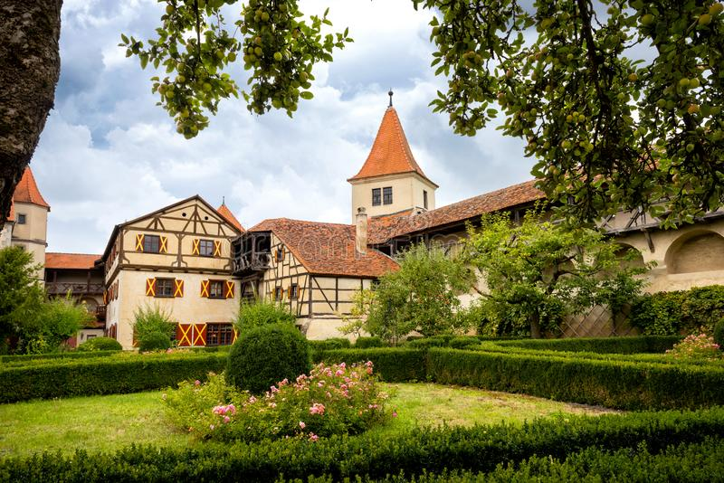 Harburg - Part of the interior of the Harburg Castle in Bavaria, It is a part of the scenic route called `Romantic Road`. Germany stock photo