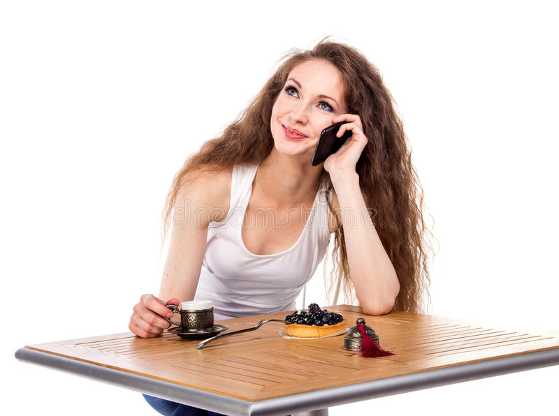 Download Charming Woman In A Restaurant Stock Image - Image: 34223473