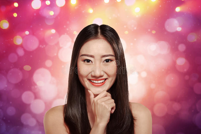 Charming young asian female royalty free stock images