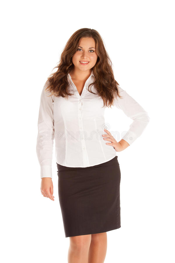 Download Charming Young Businesswoman Isolated On White Background Stock Image - Image: 30626459