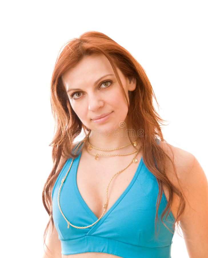 Charming young red-haired woman stock photography