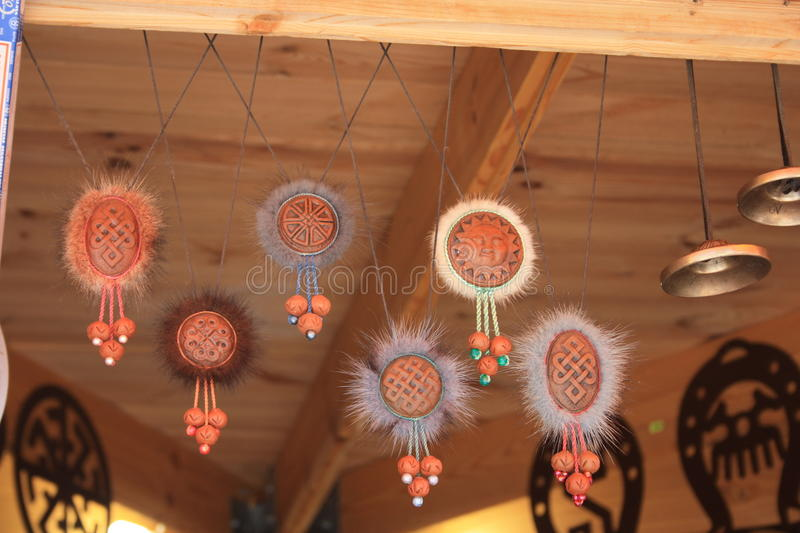Charms on the market. Ethnic charms on the market royalty free stock photography