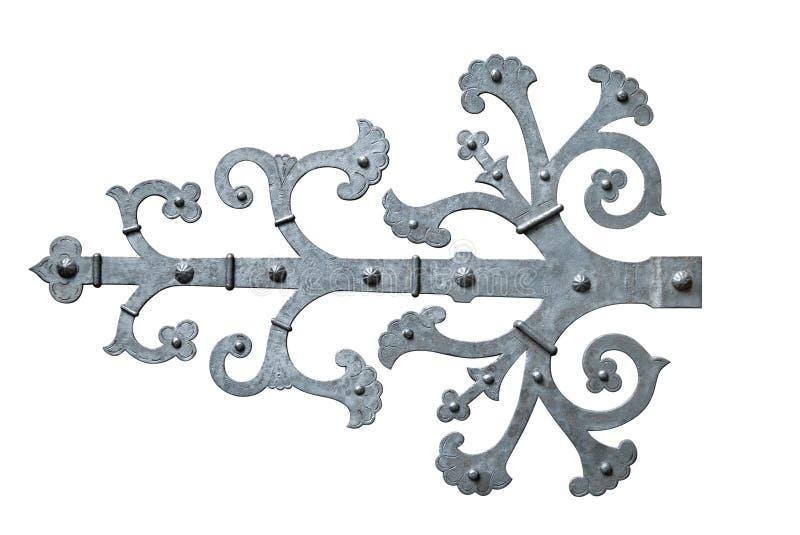 Charnière de porte décorative photographie stock libre de droits