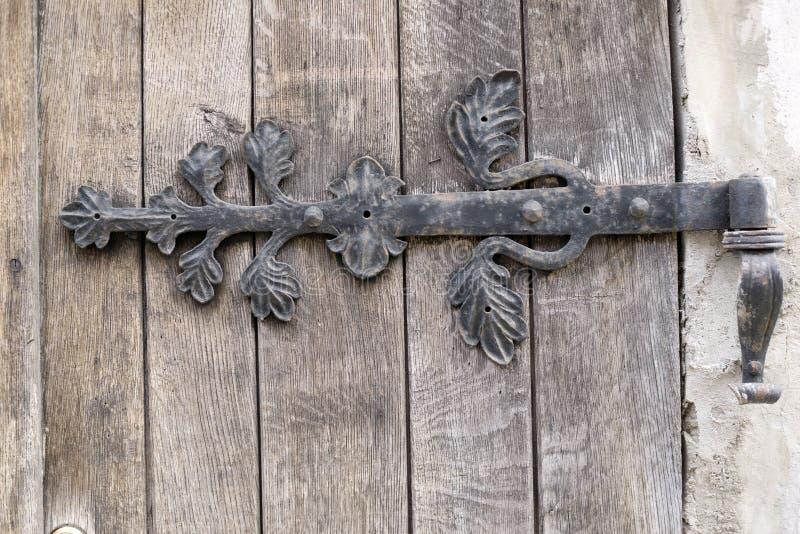 Charnière de porte dans la cave de Danzig photos libres de droits