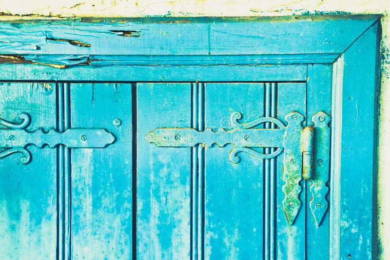 Charnières bleues de volet images libres de droits