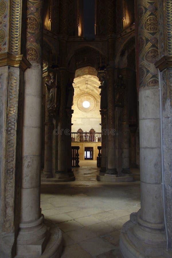 Charola kloster av Kristus Tomar Portugal arkivbilder