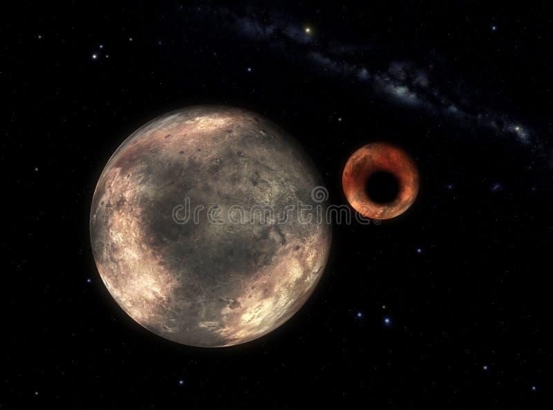 Charon proietta l'ombra sopra illustrazione vettoriale
