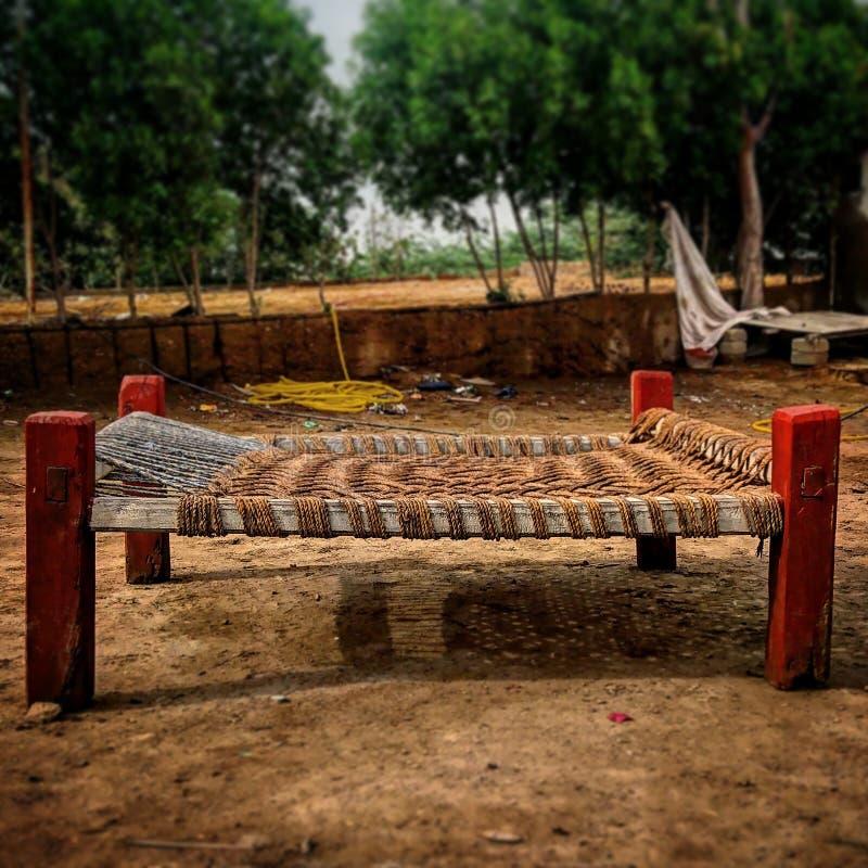 Charpai 图库摄影