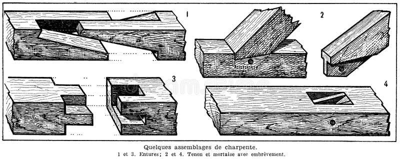 Charpente-assemblages Free Public Domain Cc0 Image