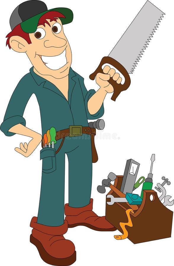 charpentier illustration libre de droits