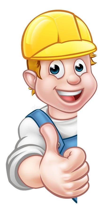 Charpentier Mechanic de bricoleur de casque antichoc ou plombier illustration stock