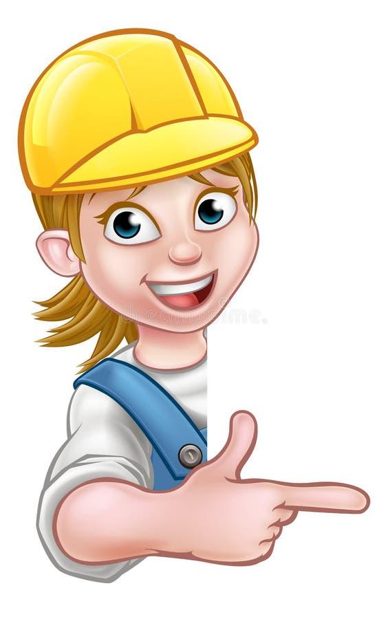 Charpentier Mechanic de bricoleur de femme ou plombier illustration stock