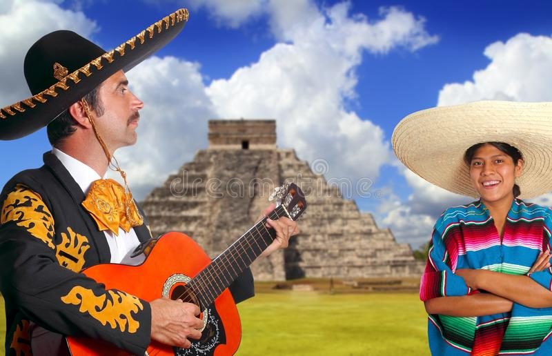 charro女孩人墨西哥流浪乐队墨西哥墨西 免版税库存图片