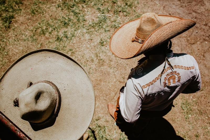 Charro mexicano, mexikansk mariachiMexico kultur arkivfoto