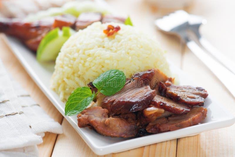 Charsiu wieprzowina Rice obrazy stock