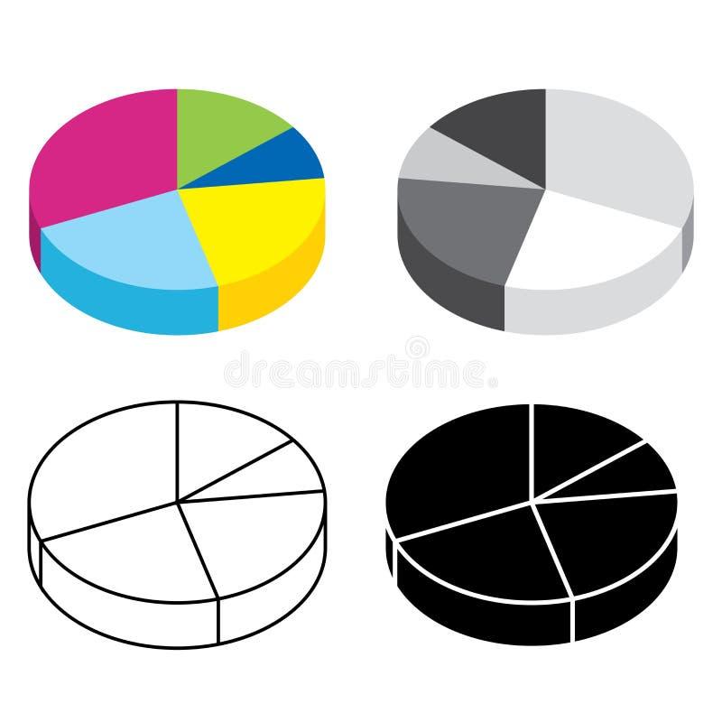 Chartпирогадля дизайна вектора плаката крышки представления вебсайта infographic бесплатная иллюстрация