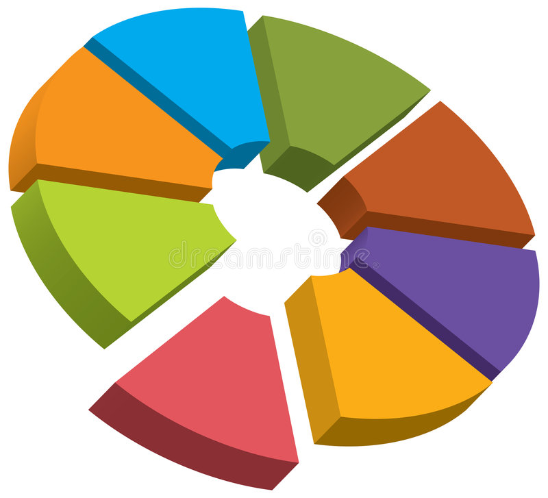 Chart. The vector chart with different colors stock illustration