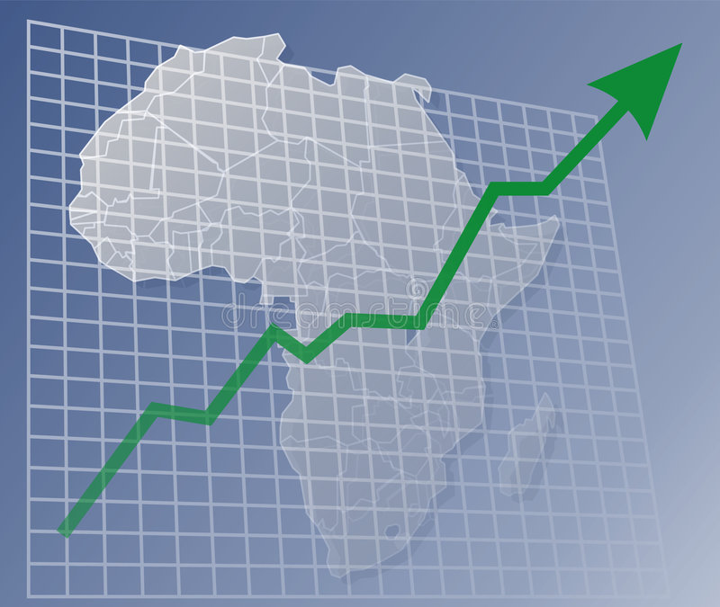 Chart Africa up royalty free illustration