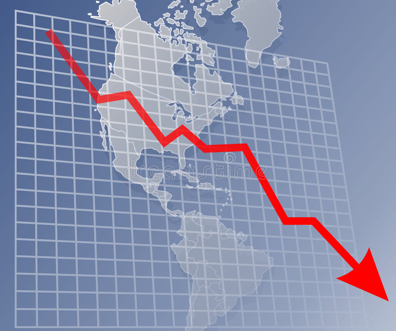 Chart Americas down stock illustration