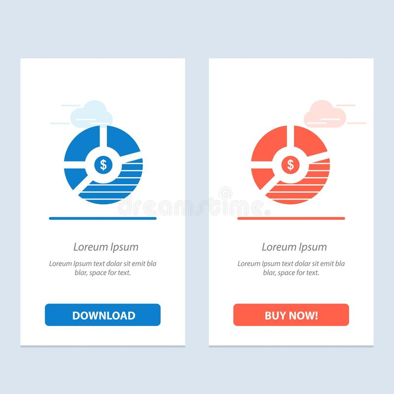 Chart, Analysis, Bar, Business, Graph, Seo, Statistics  Blue and Red Download and Buy Now web Widget Card Template stock illustration