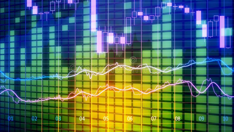 Chart background. Background insight business fintech investing market stock illustration