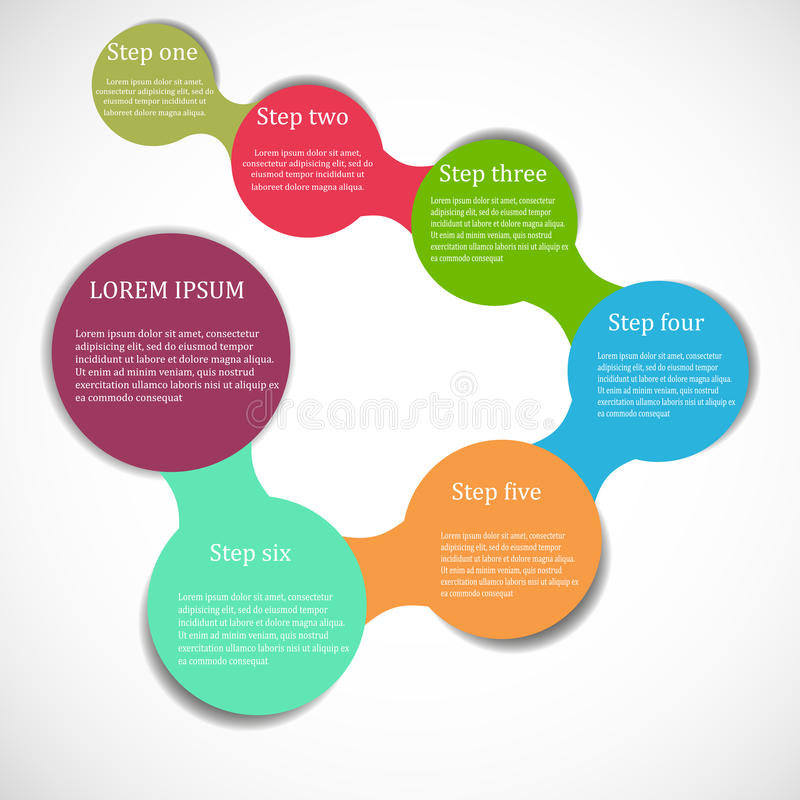 Chart banner. Circle flow colorful chart banner stock illustration