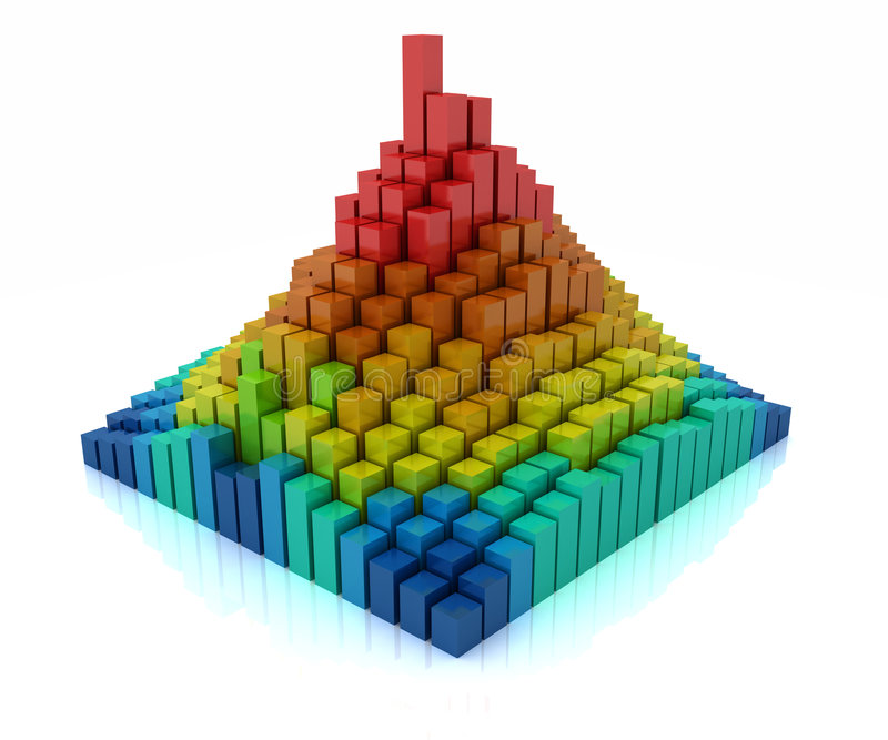 chart bars vector illustration