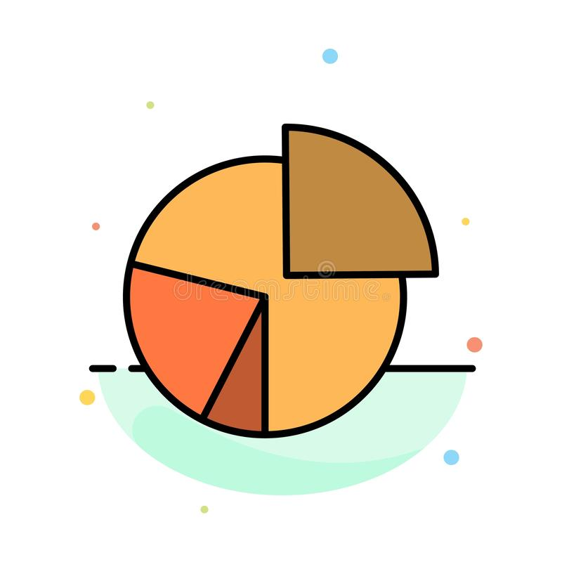 Chart, Business, Diagram, Finance, Graph, Pie, Statistics Abstract Flat Color Icon Template royalty free illustration