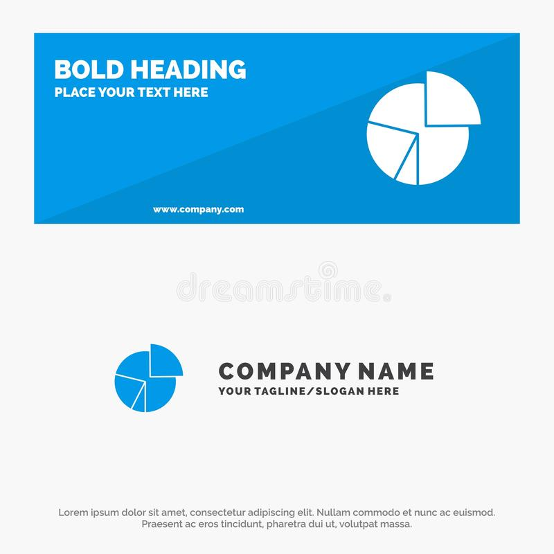 Chart, Business, Diagram, Finance, Graph, Pie, Statistics SOlid Icon Website Banner and Business Logo Template vector illustration