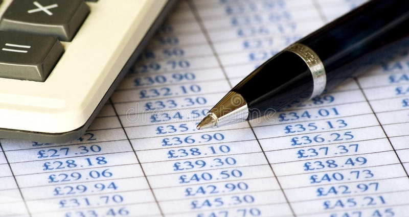 Download Chart, calculator & pen stock photo. Image of commerce - 21639764