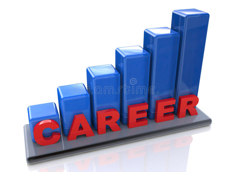 Chart career success royalty free stock photography