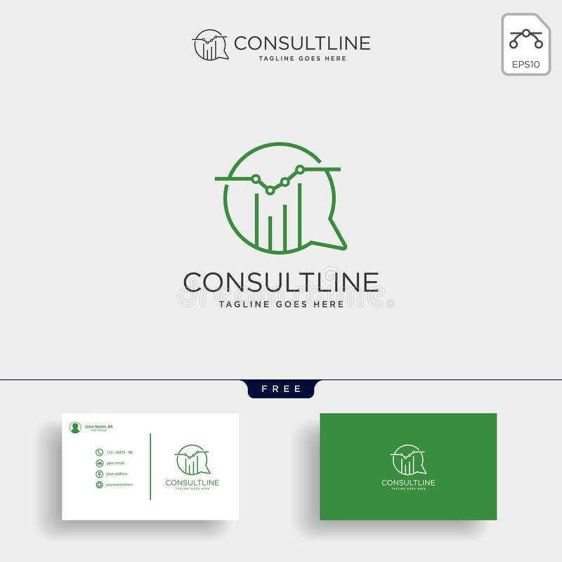 chart consulting, business consult creative logo template vector illustration stock illustration