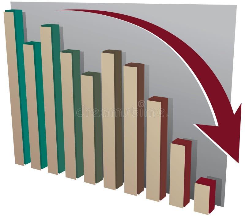 chart crash market stock иллюстрация штока