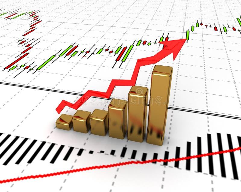 Chart, diagram. Business finance chart, diagram, bar, graphic vector illustration